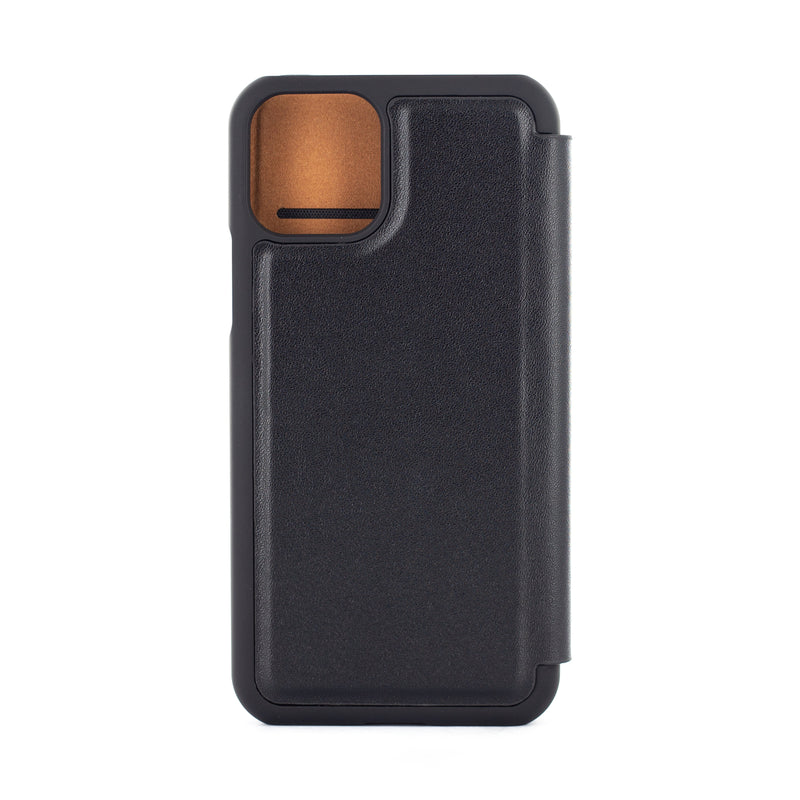 iPhone 11 Pro Leather Folio Phone Case - Black