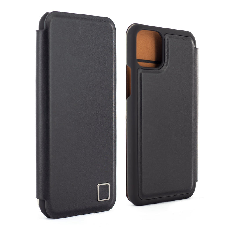 Proporta iPhone 11 Pro Max Leather Folio Phone Case - Black