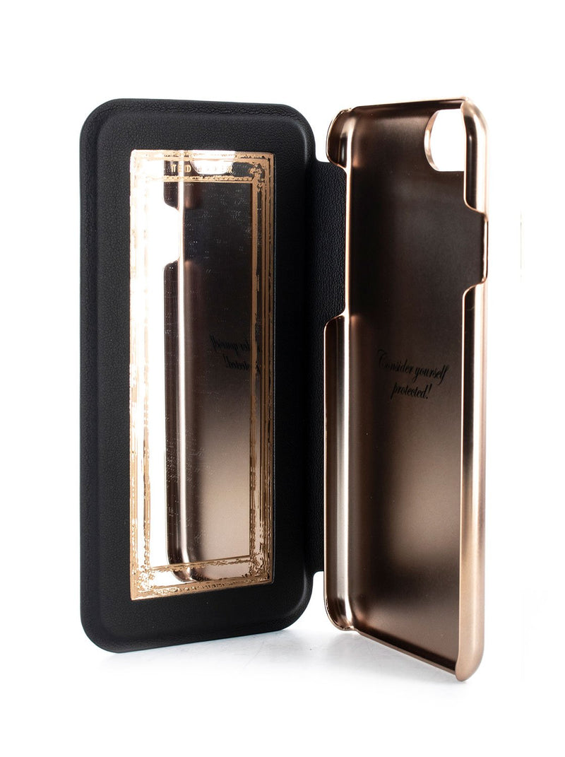 Inside image of the Ted Baker Apple iPhone 8 Plus / 7 Plus phone case in Black