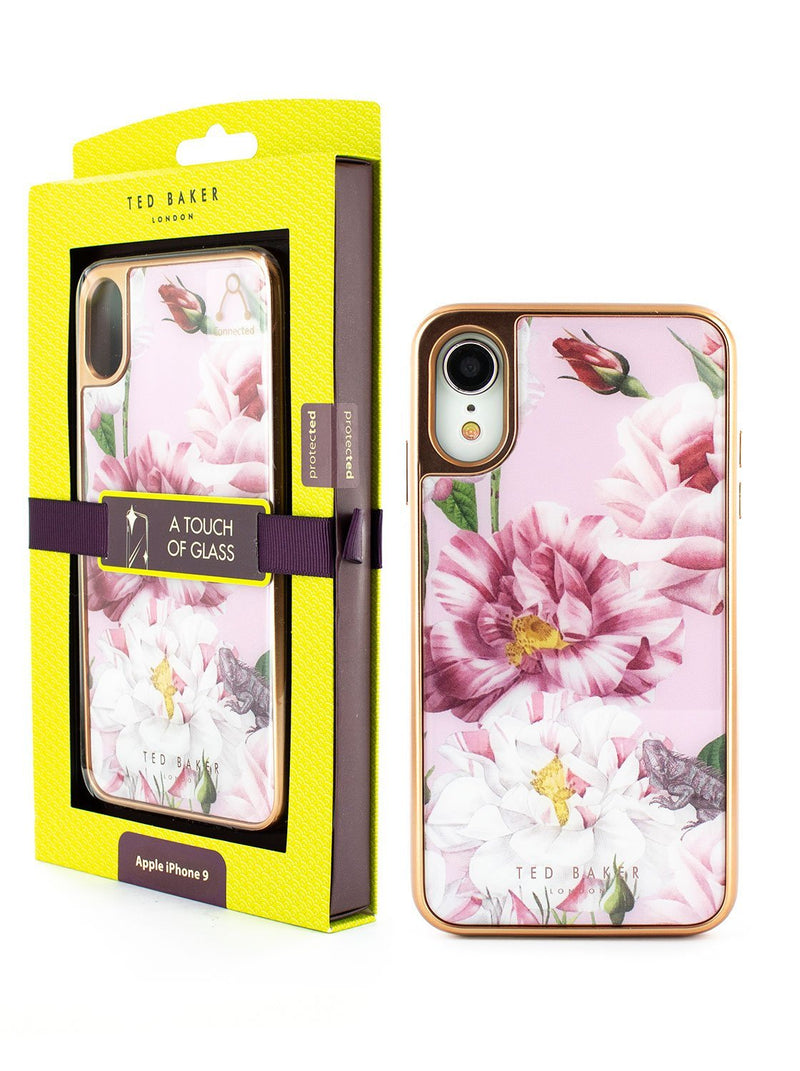 Packaging image of the Ted Baker Apple iPhone XR phone case in Pink
