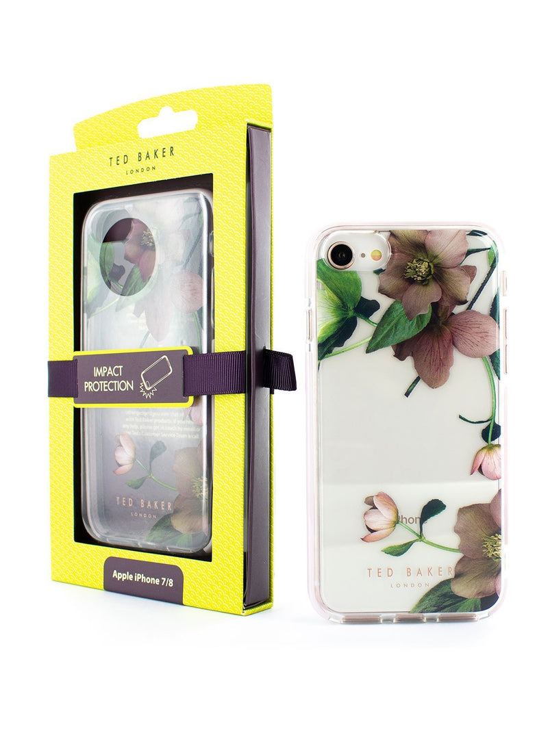 Packaging image of the Ted Baker Apple iPhone 8 / 7 / 6S phone case in Clear Print