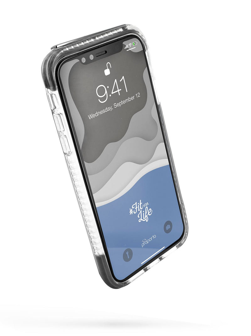 Front image of the Proporta Apple iPhone XS Max phone case in Grey