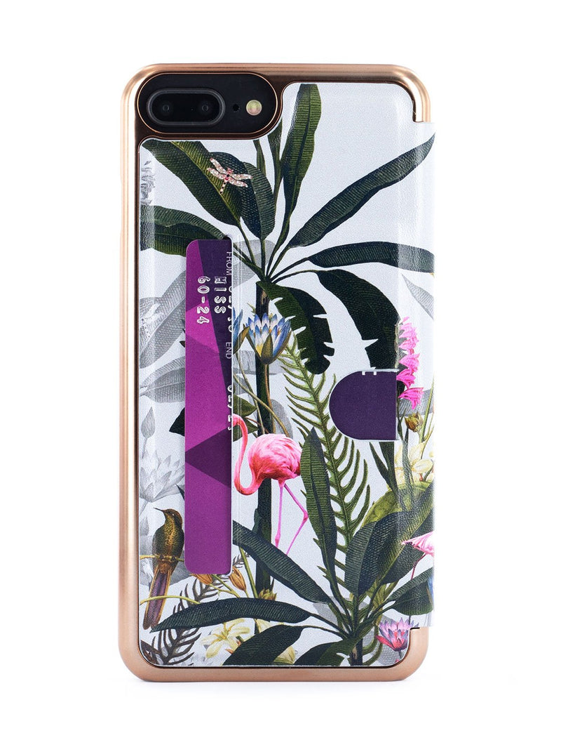 Back card slot image of the Ted Baker Apple iPhone 8 Plus / 7 Plus phone case in Grey
