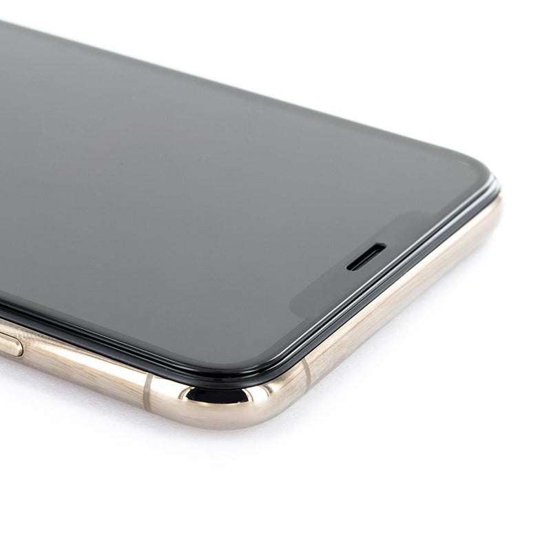Detail shot of the Proporta Apple iPhone 11 Pro Max screen protector in Clear
