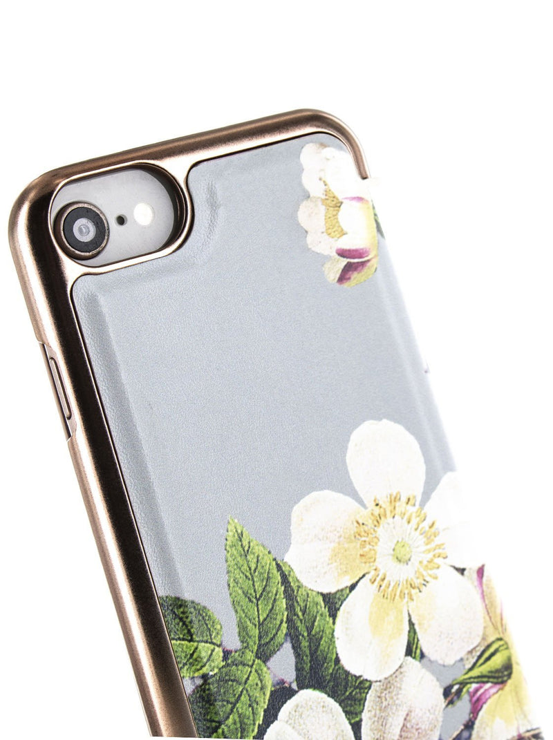 Detail image of the Ted Baker Apple iPhone 8 / 7 / 6S phone case in Grey