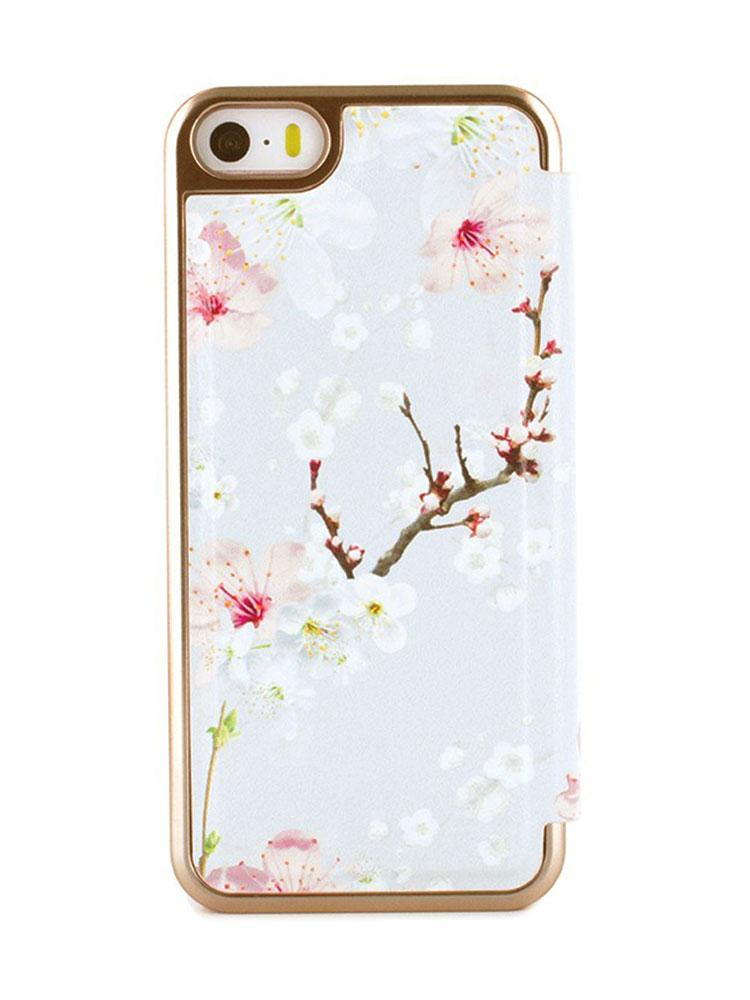 Ted Baker ANA Mirror Folio Case for iPhone SE - Oriental Blossom