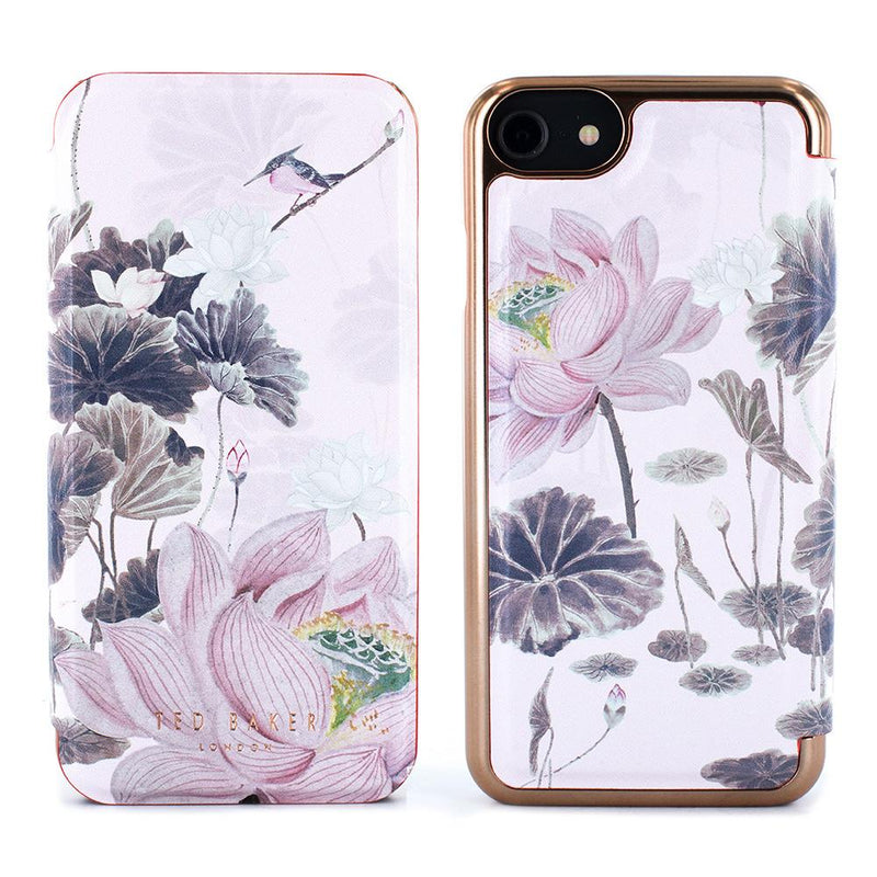 Ted Baker LYRA Mirror Folio Case for iPhone SE 2020 / 8 / 7 - Lake of Dreams