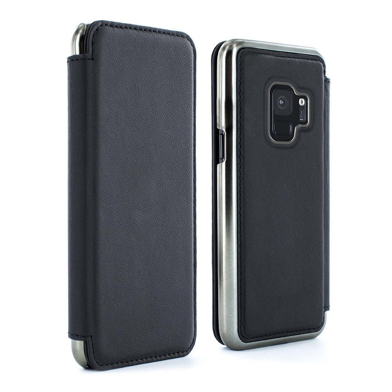 BLAKE Folio Case with Card Slot for Samsung Galaxy S9 Plus - Beluga/Gunmetal Electroplated