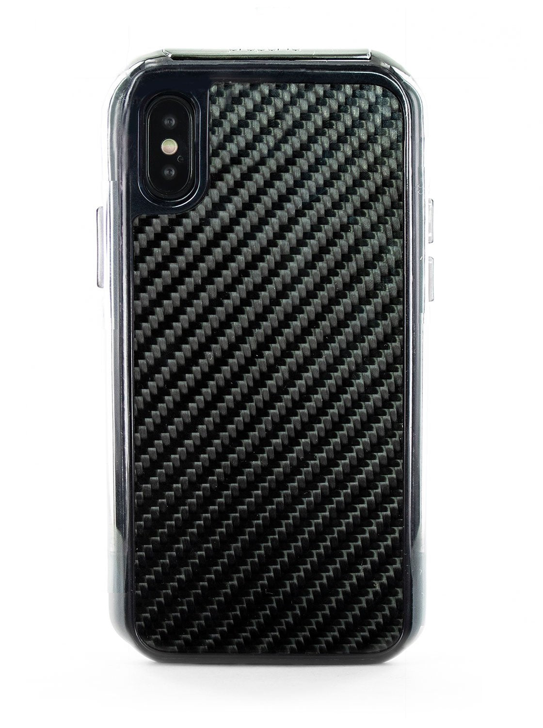 FLEX Anti Shock Kickstand Case for iPhone X / XS - Carbon Fibre