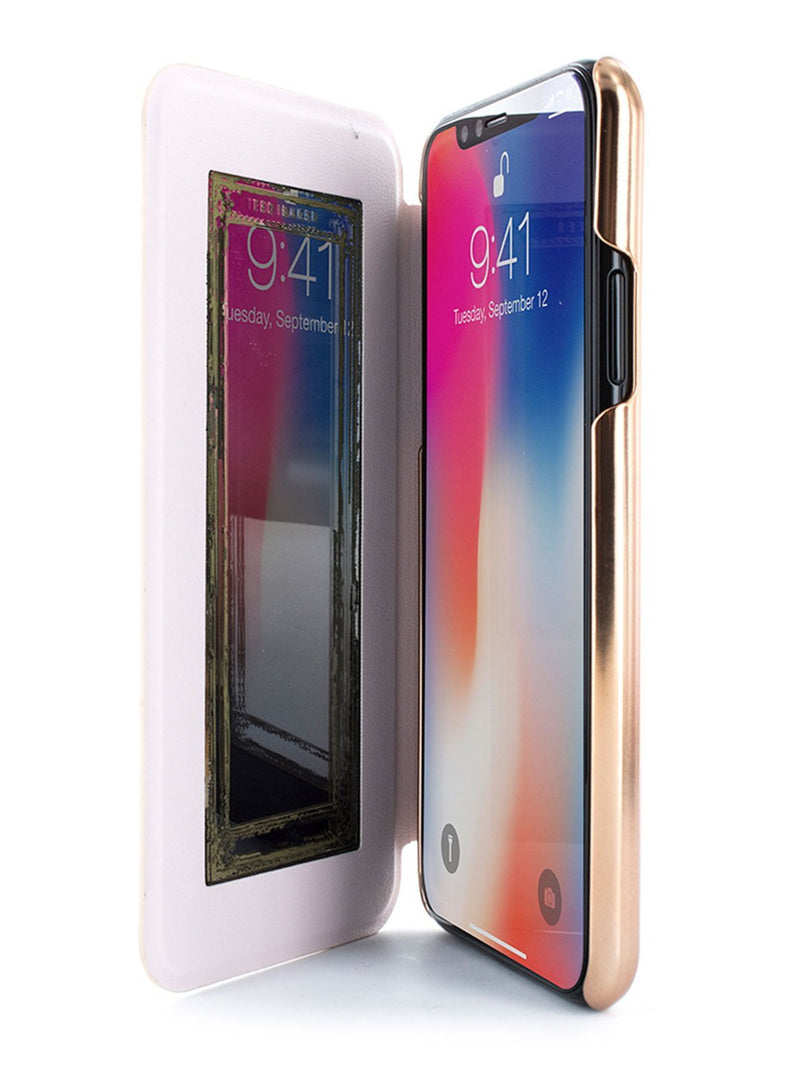 Inside image of the Ted Baker Apple iPhone XS / X phone case in Grey