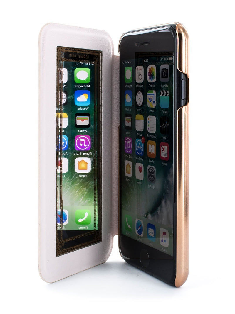 Inside image of the Ted Baker Apple iPhone 8 / 7 / 6S phone case in Rose Gold