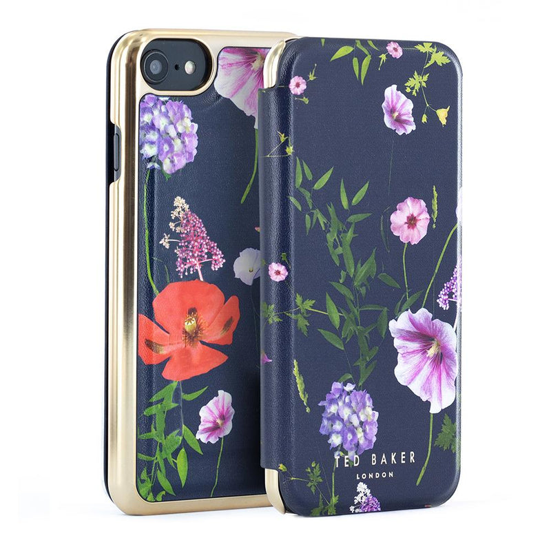 Ted Baker CHERYIA Mirror Folio Case for iPhone SE (2020) / 8 / 7 / 6 - Hedgerow