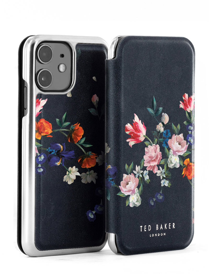 Ted Baker SKYLIA Mirror Case for iPhone 11 - Sandalwood / Black Silver
