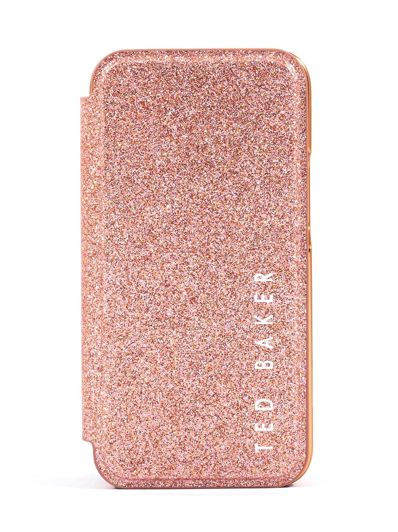 Ted Baker DIANOE Mirror Case for iPhone 12 - Rose Gold Glitter