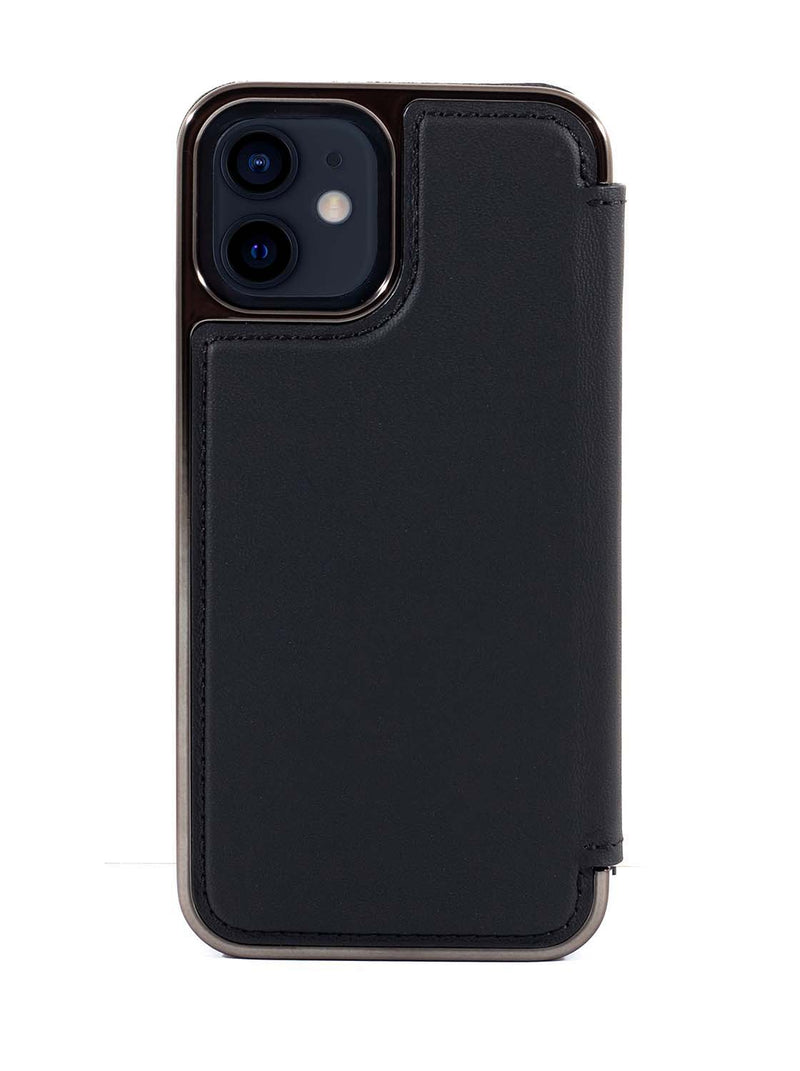 Greenwich BLAKE  Leather Case for iPhone 12 mini - Beluga (Black)