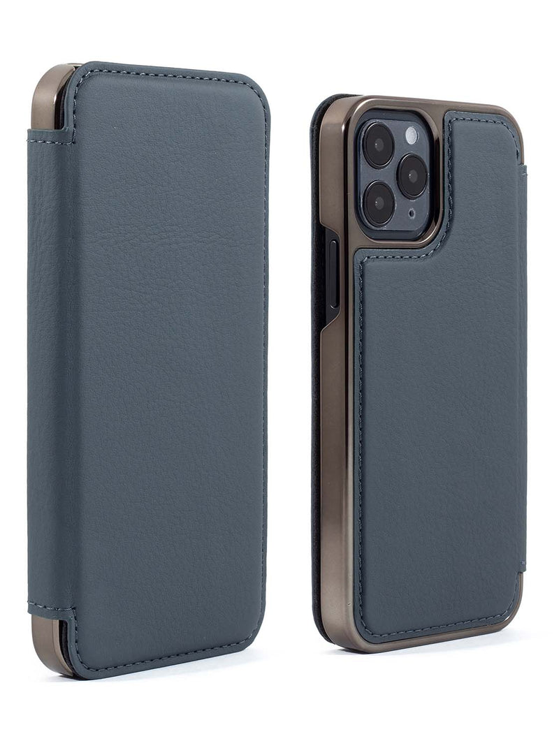 Greenwich BLAKE Leather Case for iPhone 12 Pro - Seal (Grey)
