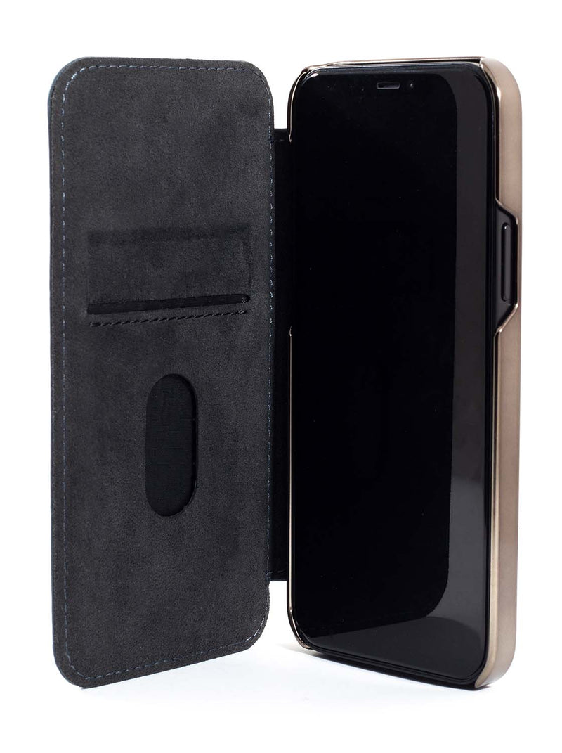 Greenwich BLAKE Leather Case for iPhone 12 - Seal (Grey)