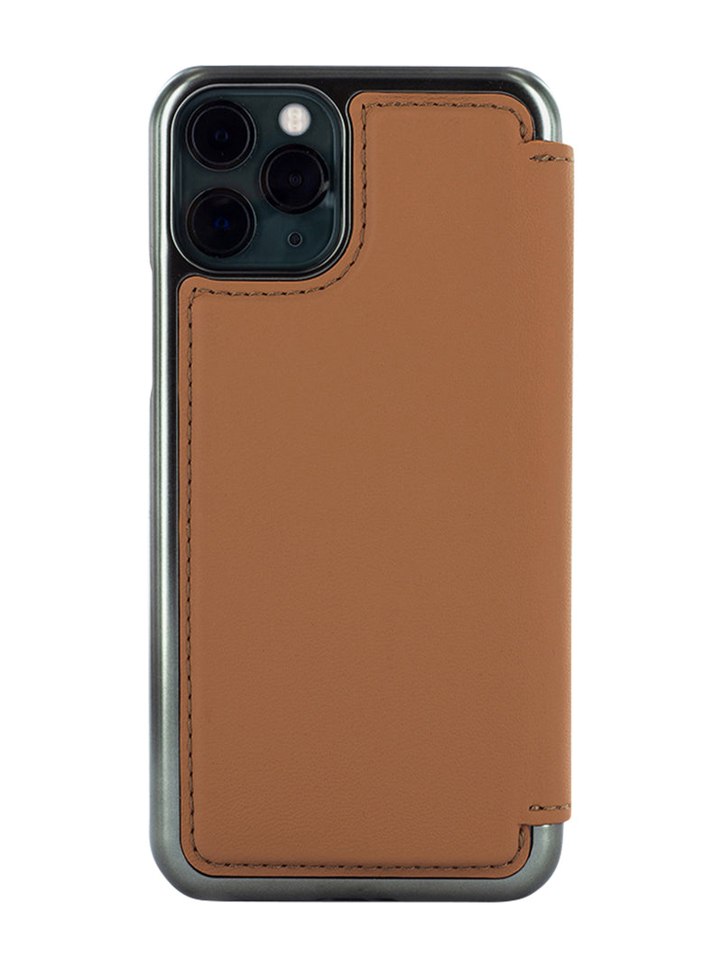 BLAKE Folio with Card Slot for iPhone 11 Pro - Saddle/Gold Electroplated