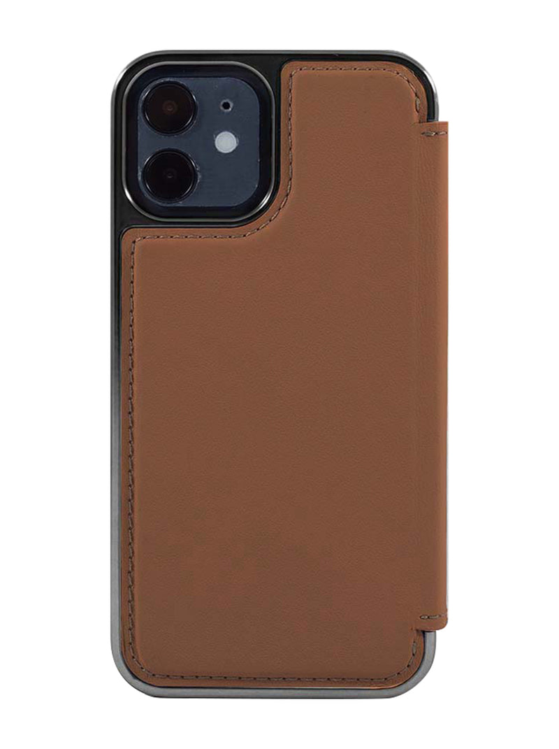 Greenwich BLAKE Leather Case for iPhone 12 Mini - Saddle Gunmetal