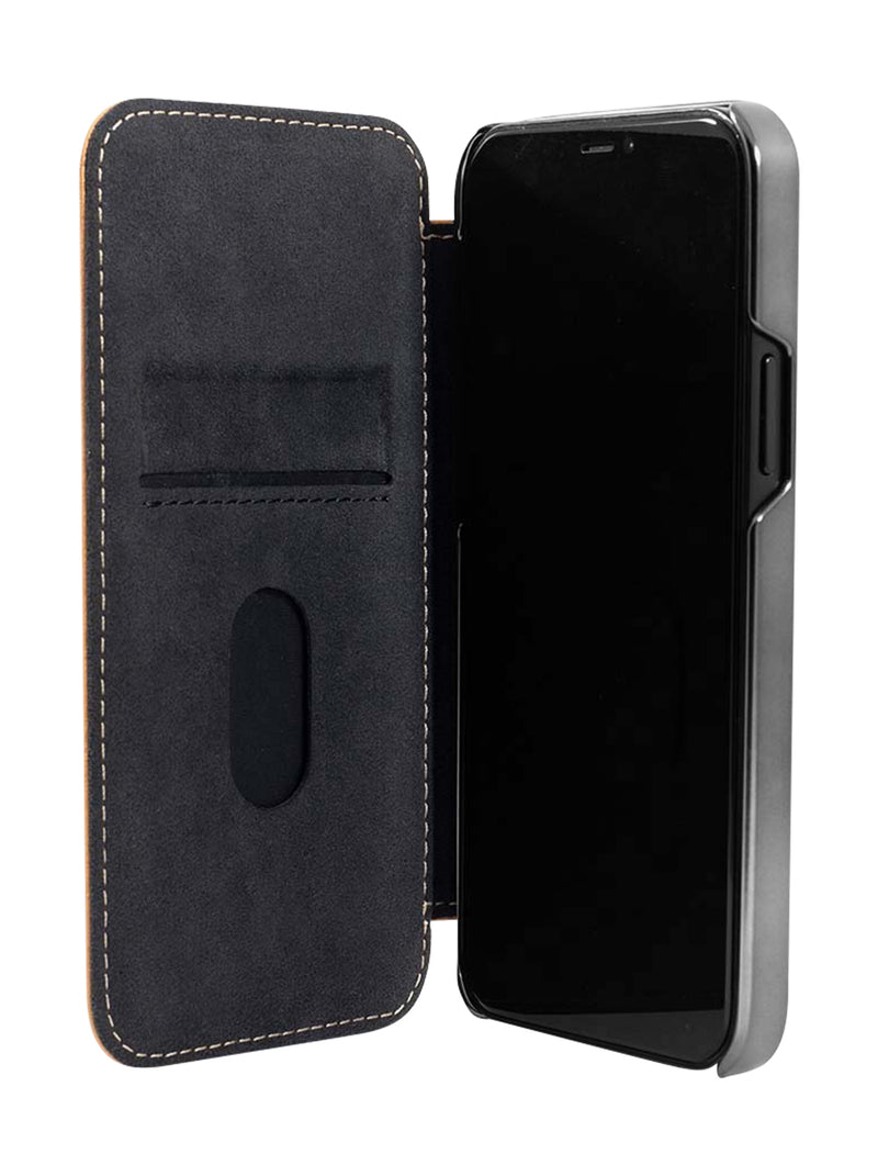 Greenwich BLAKE Leather Case for iPhone 12 Pro - Saddle Gunmetal
