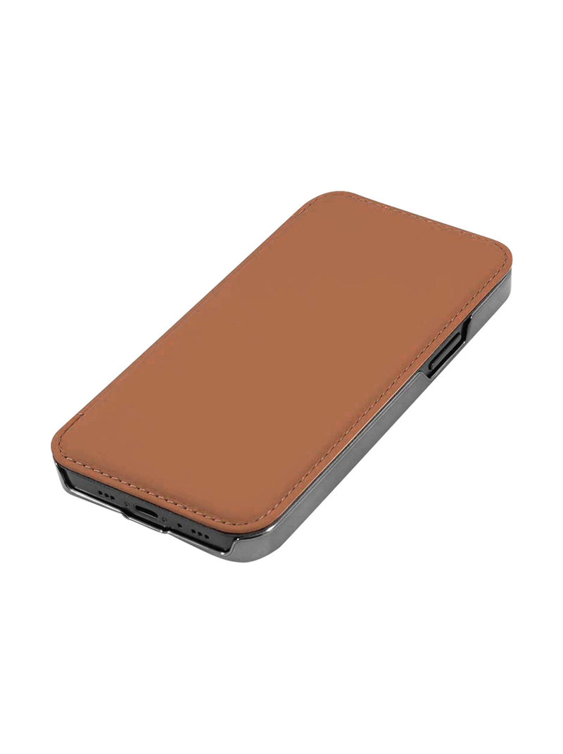 Greenwich BLAKE Leather Case for iPhone 12 Pro Max - Saddle Gunmetal