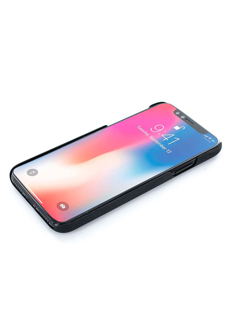 Face up image of the Proporta Apple iPhone XS / X phone case in Black