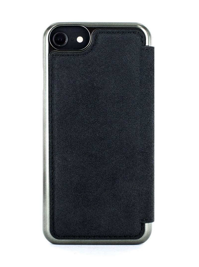 Back image of the Greenwich Apple iPhone 8 / 7 / 6S phone case in Alcantara
