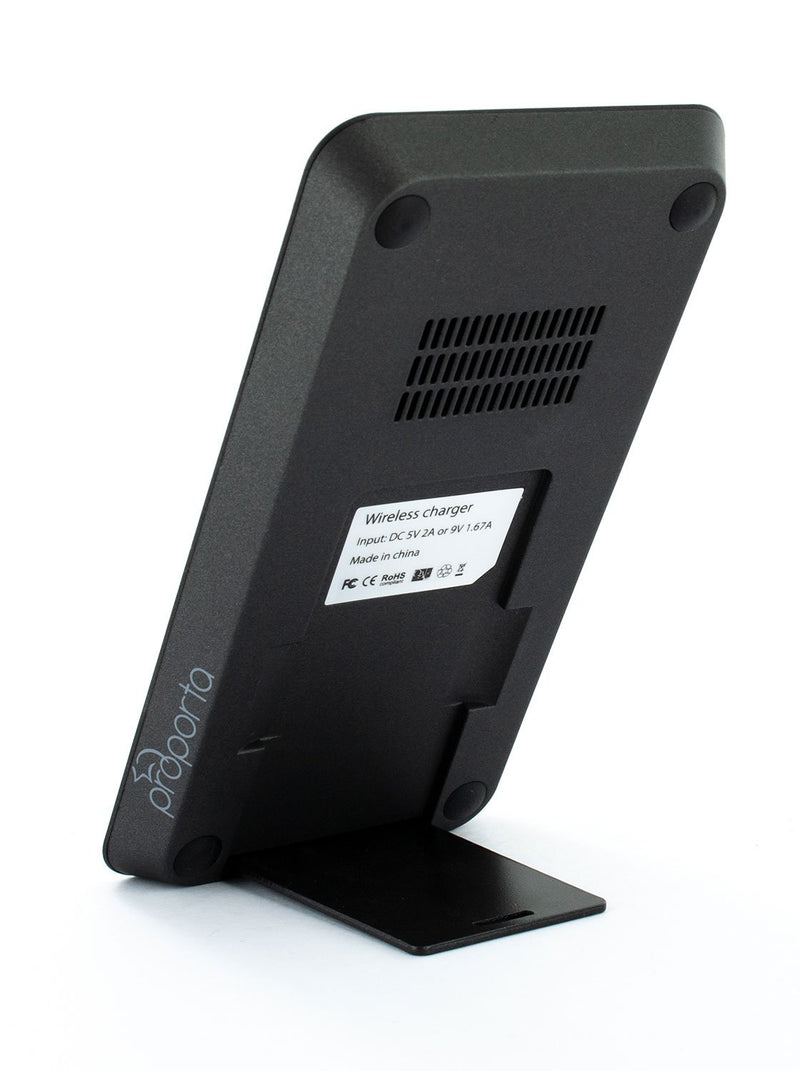 Back image of the Proporta Universal wireless charger in Black