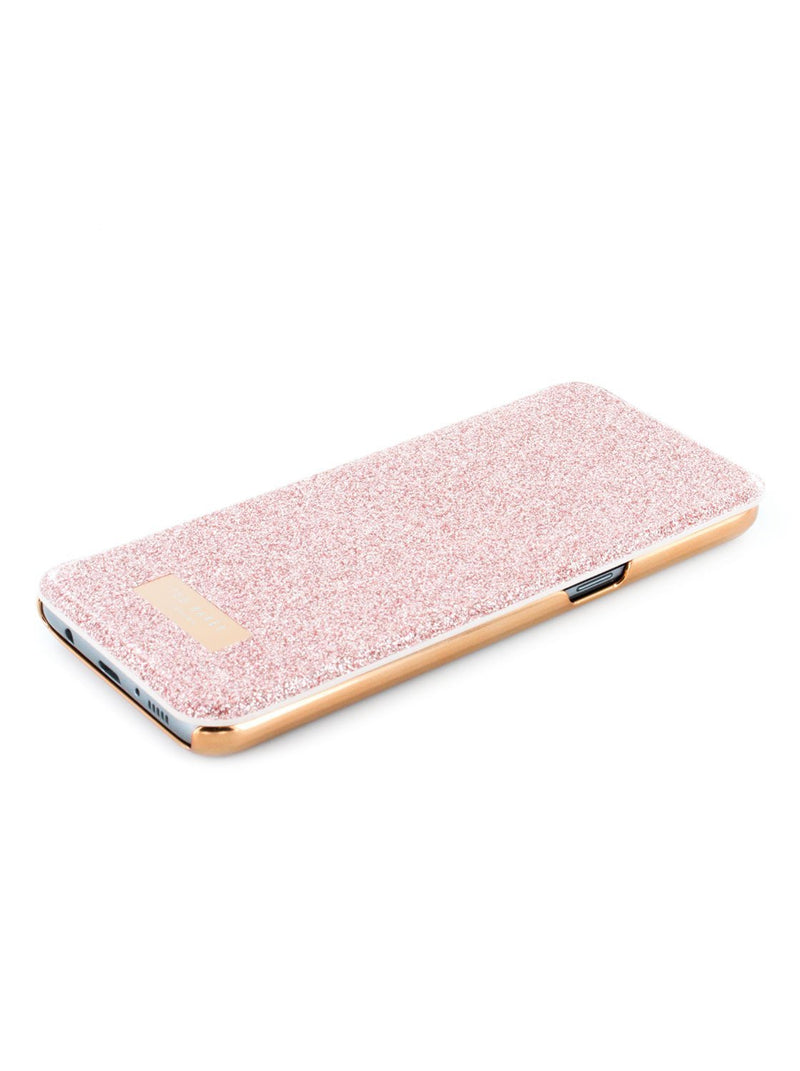 Face up image of the Ted Baker Samsung Galaxy S8 phone case in Rose Gold