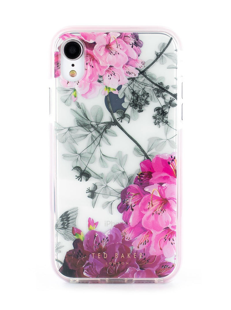 Hero image of the Ted Baker Apple iPhone XR phone case in Clear Print