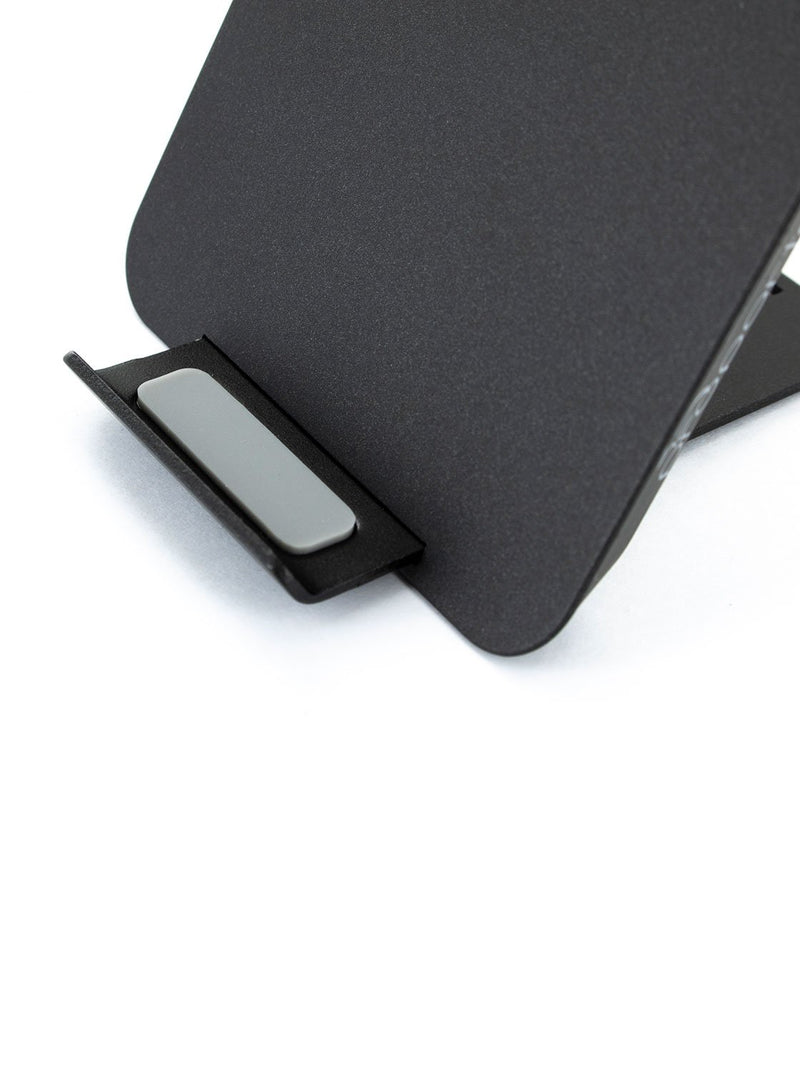 Stand detail image of the Proporta Universal wireless charger in Black