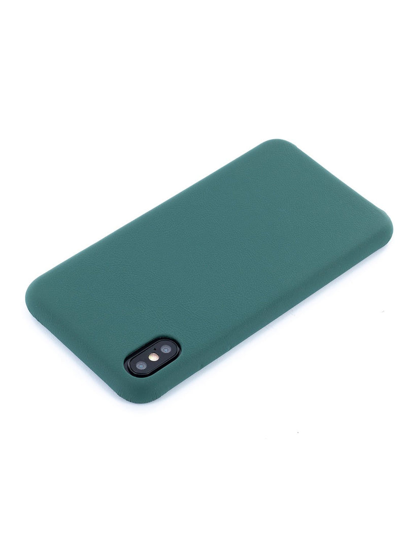 Face down image of the Greenwich Apple iPhone XS Max phone case in Emerald Green