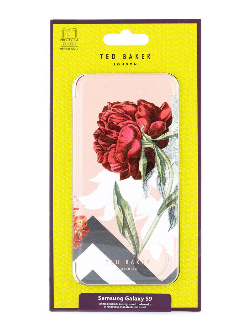 Packaging image of the Ted Baker Samsung Galaxy S9 phone case in Nude