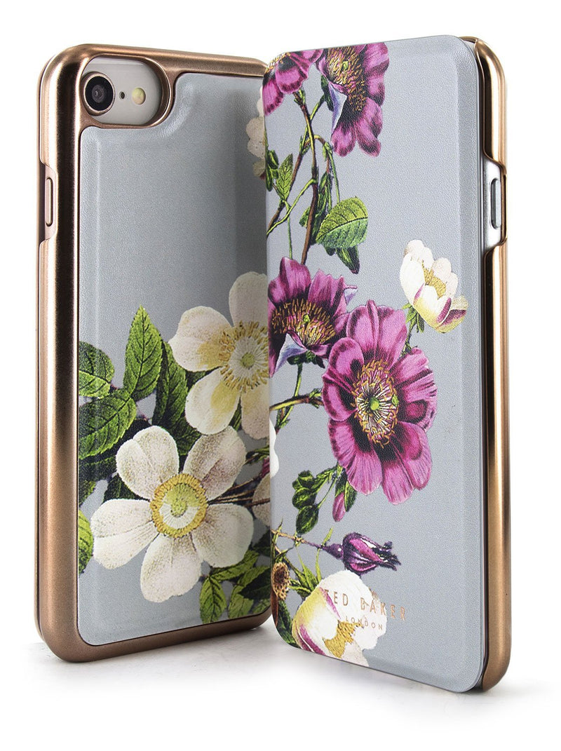 Front and back image of the Ted Baker Apple iPhone 8 / 7 / 6S phone case in Grey