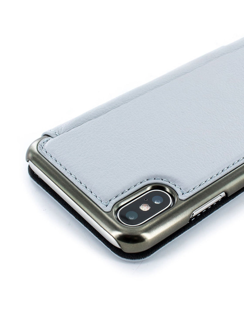 Detail image of the Greenwich Apple iPhone XS / X phone case in Pale Gravel