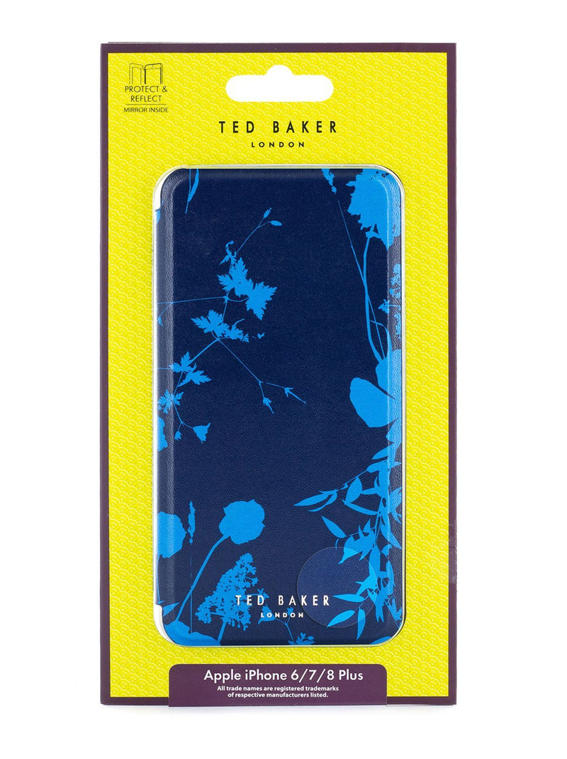 Packaging image of the Ted Baker Apple iPhone 8 Plus / 7 Plus phone case in Blue
