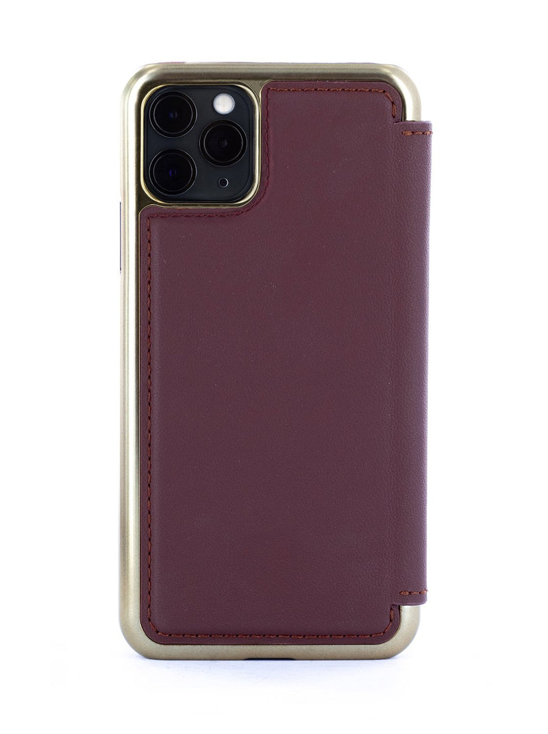 DOGGER Luxury Leather Case for iPhone 11 Pro Max - OXBLOOD (RED)/GOLD