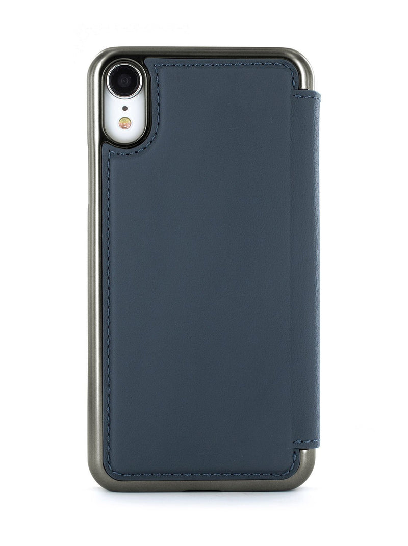 Back image of the Greenwich Apple iPhone XR phone case in Seal Grey