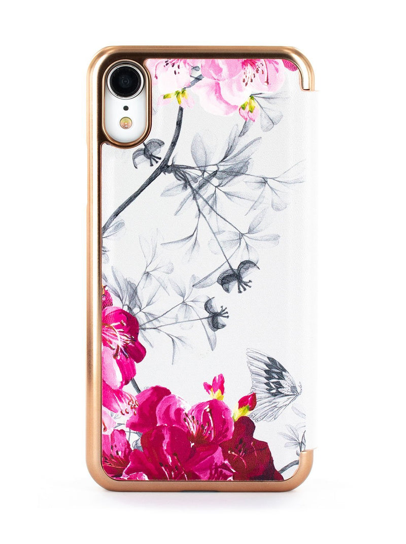 Back image of the Ted Baker Apple iPhone XR phone case in Babylon Nickel