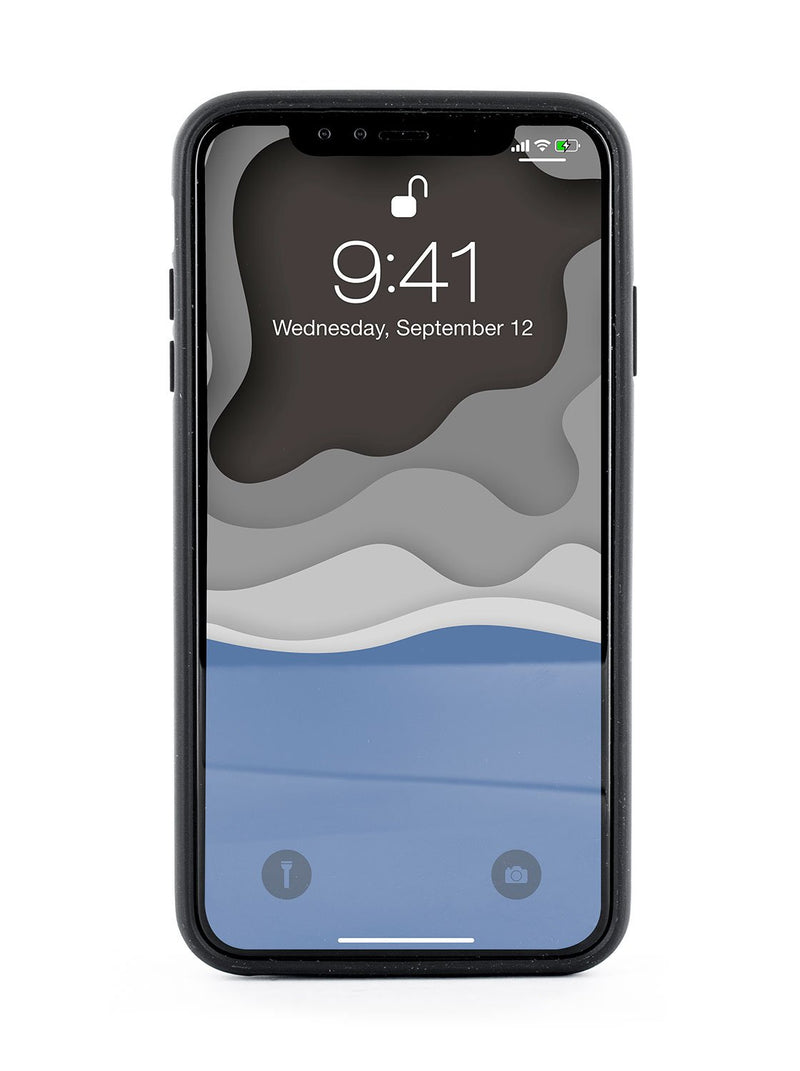 Front image of the Ted Baker Apple iPhone XS Max phone case in Black