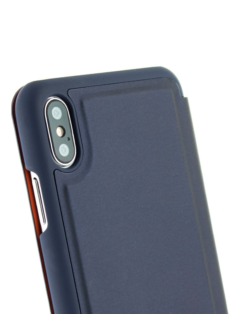 Detail image of the Ted Baker Apple iPhone XS Max phone case in Navy Blue