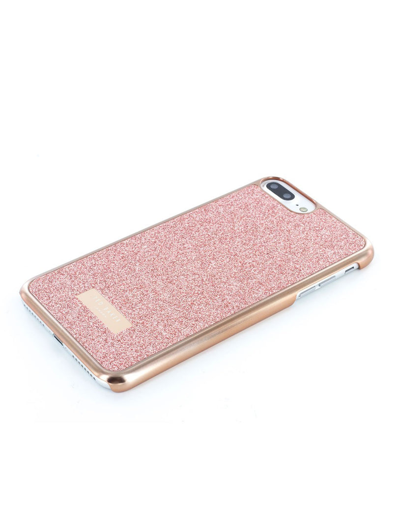 Face down image of the Ted Baker Apple iPhone 8 Plus / 7 Plus phone case in Rose Gold