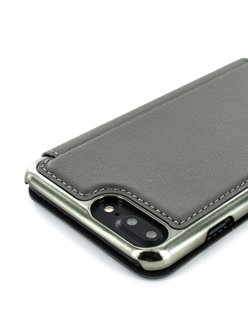Detail image of the Greenwich Apple iPhone 8 Plus / 7 Plus phone case in Porpoise Grey