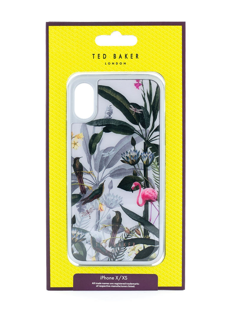 Packaging image of the Ted Baker Apple iPhone XS / X phone case in Grey