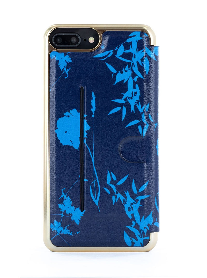 Back image of the Ted Baker Apple iPhone 8 Plus / 7 Plus phone case in Blue