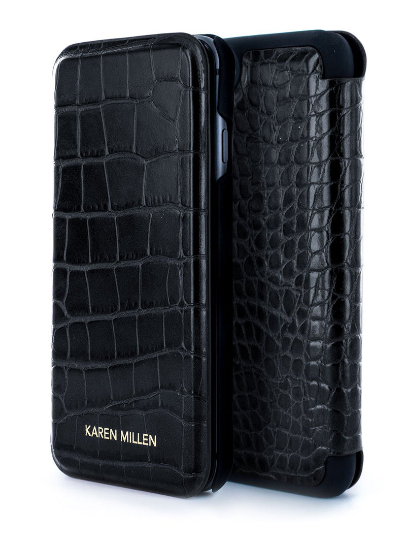 Inside image of the Karen Millen Apple iPhone 8 / 7 / 6S phone case in Black