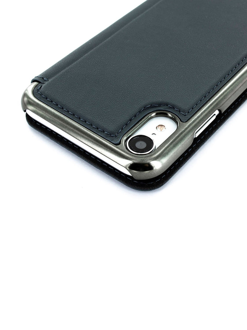 Detail image of the Greenwich Apple iPhone XR phone case in Seal Grey