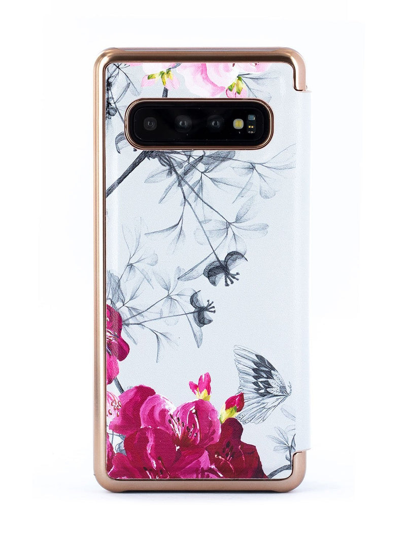 Back image of the Ted Baker Samsung Galaxy S10 phone case in Babylon Nickel