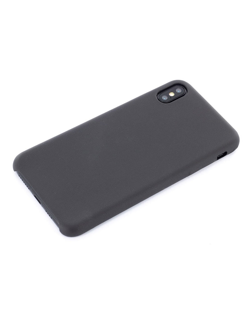 Face down image of the Greenwich Apple iPhone XS Max phone case in Beluga Black