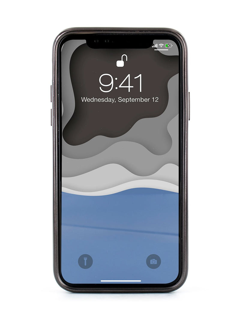 Back image of the Ted Baker Apple iPhone XS Max phone case in Grey